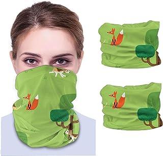 Räv och hund män och kvinnor ansikte skydd bandana, multifunktionell huvudduk halsduk halsdamask balaclava