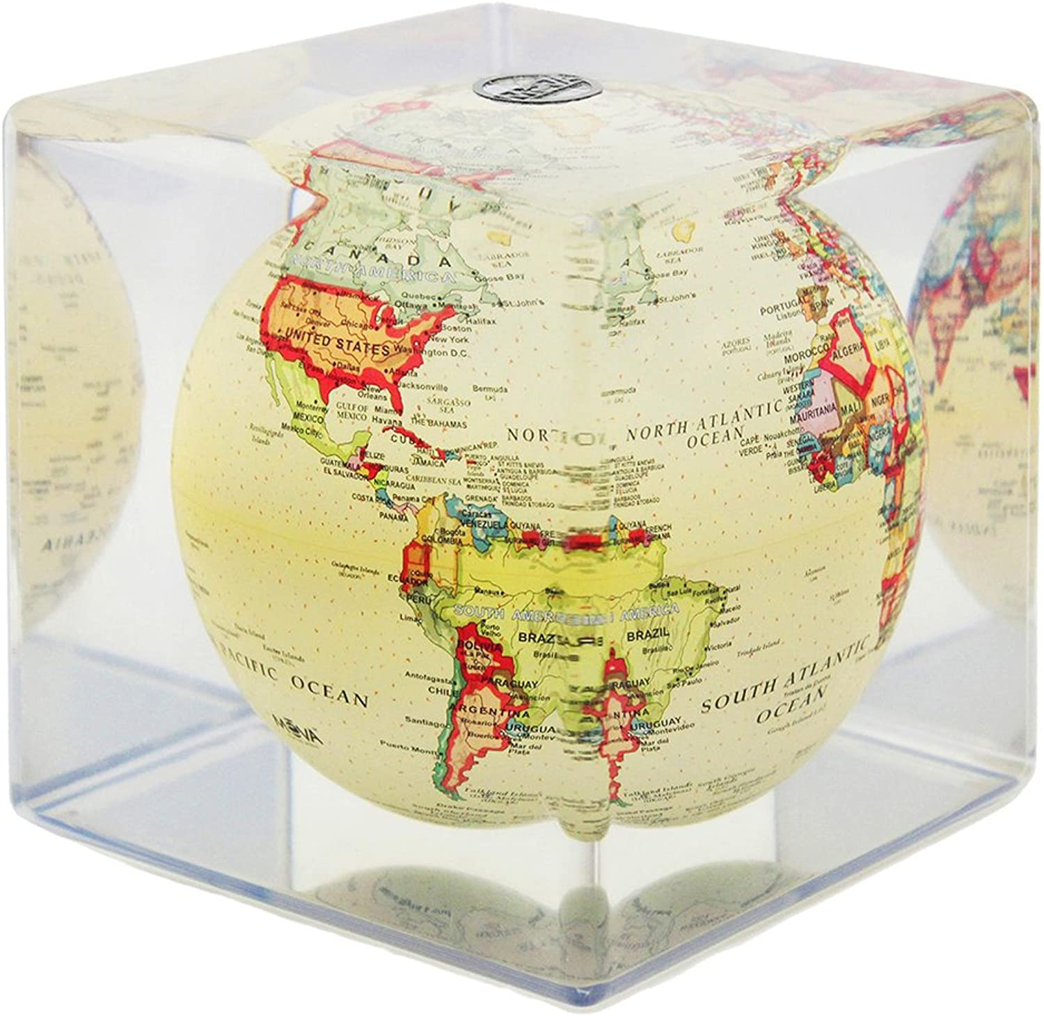 MOVA Political Map Yellow Globe Cube 5