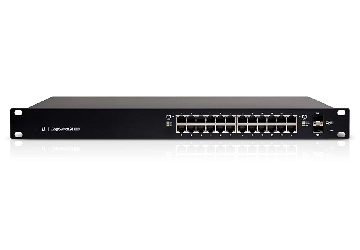 【Amazon.co.jp 限定】Ubiquiti Networks Managed PoE+ Gigabit Switch with SFP [Amazon限定品] ES-24-500W-A