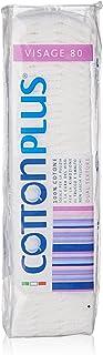 Cotton Plus VISAGE 80 pz. - LINEA BEAUTY | DISCHETTI PRETAGLIATI 100% PURO COTONE | Dischetti struccanti per la pulizia de...