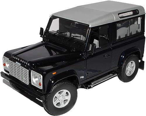 Universal Hobbies Land Rover Defender 90 TD5 Dunkel Blau 3 Türer 1 18 Modell Auto mit individiuellem Wunschkennzeichen