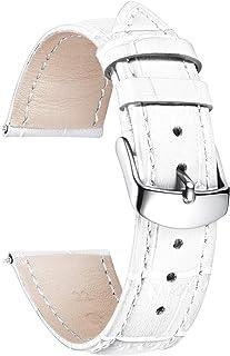 BINLUN Bracelet de Montre en Cuir Crocodile Véritable Remplacement Montre Bracelet à Dégagement Rapide Etanche 10 Couleurs...