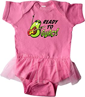 Ready to Guac with Avocado Playing Guitar Infant Tutu Bodysuit