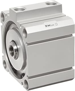 SMC NCQ8B150-025 Aluminum Air Cylinder, Compact, Double Acting, Through Hole Mounting, Not Switch Ready, No Cushion, 1-1/2
