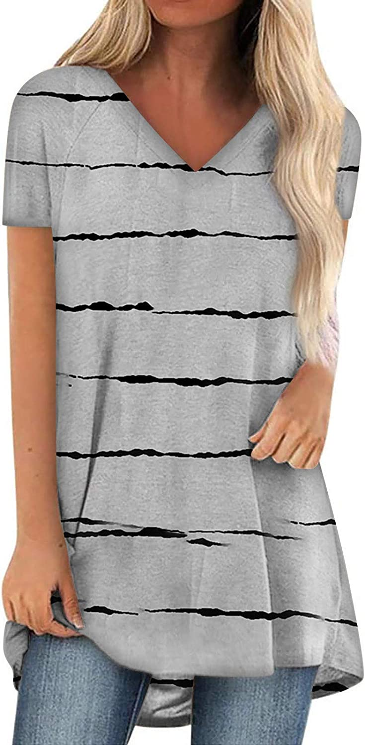 Cold Shoulder Tops for Women,Womens Summer Casual T Shirts Short Sleeve Strappy Cold Shoulder Blouses Tunic Tee Tops