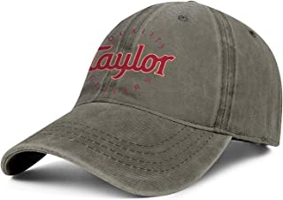 Bombline Mens Womens Taylor-Guitars-Logo- Adjustable Retro Golf Hats Baseball Washed Dad Hat Cap