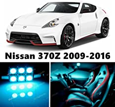 skylightauto 7pcs LED Premium ICE Blue Light Interior Package Deal for Nissan 370Z 2009-2016