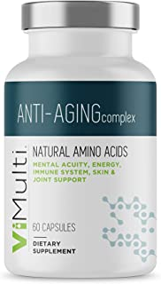 ViMulti Anti-Aging Natural Amino Acid Supplement for Longevity –Supports Immune Health, Increased Energy, Improved Focus, ...