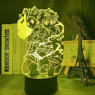 Gon and Killua Figure 3D Night Light Anime Hunter X Hunter Nightlight for Kid Bedroom Decor Lighting Child Gift HxH Lamp B...