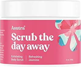 ASUTRA Dead Sea Salt Body Scrub Exfoliator (Refreshing Jasmine), 12 oz | Ultra Hydrating, Gentle, Moisturizing | All Natural & Organic Jojoba, Sweet Almond, Argan Oils