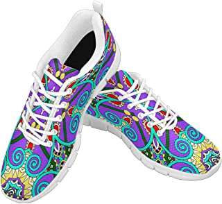 Zenzzle Womens Running Shoes Traditional Paisley Floral Bandanna Pattern Casual Lightweight Athletic Sneakers Size 6-12