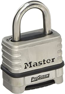 Master Lock Stainless Steel Combination Padlock, 57 mm Size, Silver, 5/16 inch (1174D)