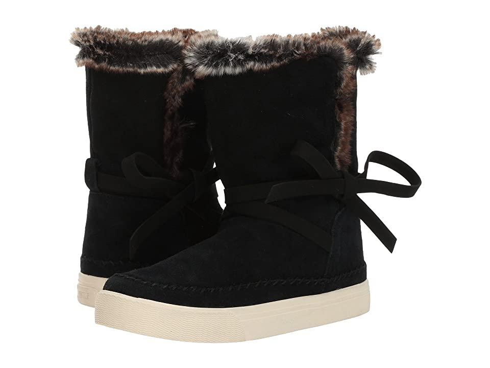 TOMS Vista Water-Resistant Boot (Black Waterproof Suede/Faux Fur) Women
