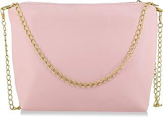 Crown Villa Pink Color Sling Bag For Women (SLINGBAG FS26)