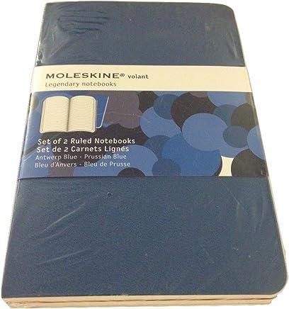 Moleskine volant leggendario morbido copertura taccuino a righe (8,9x 14cm)–Set di 2, Anversa/Prussian Blue