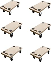 6 Stück SWV 400031 Rollbrett Transportrolle Möbelroller MDF, PP Roller 200kg