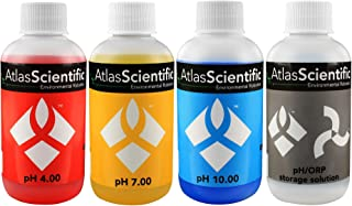 Atlas Scientific pH 4.00, 7.00, 10.00, pH Electrode Storage Calibration Solution 125ml - 4oz (Pack of 4)