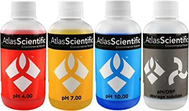 Atlas Scientific pH 4.00, 7.00, 10.00, pH Electrode Storage Calibration Solution 125ml - 4oz (Pack of 4)