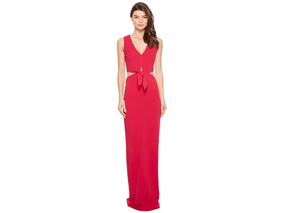 Nicole Miller Grayson Structured Heavy Jersey Gown (Fuchsia) Women