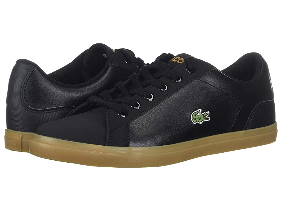 Lacoste Kids Lerond (Little Kid/Big Kid) (Black/Gum) Kid