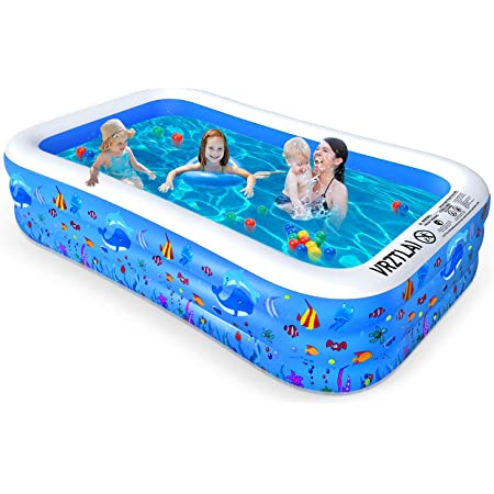 Adults Infant VRZTLAI Family Inflatable Swimming Pool Outdoor Summer Water Party Toddlers Easy Set Swimming Pool for Garden Kids Inflatable Lounge Pool for Kiddie Backyard 118 X 72 X 22