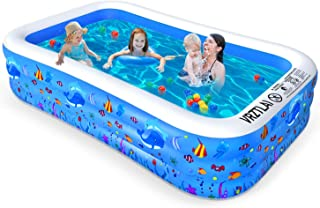 """VRZTLAI Inflatable Swimming Pool, Family Lounge Pool Kiddie Pool for Kids, Adult, Infant, Toddlers, Garden, Backyard, Outdoor Summer Water Party, Full Sized 120"""" X 72"""" X 22"""""""