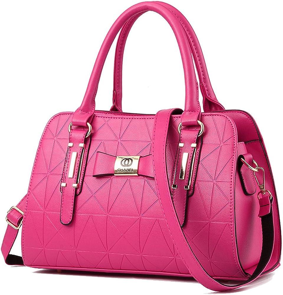 YiYiNoe PU Leather Womens Handbag Top Handle Satchel Handbags Tote Purse for Lady