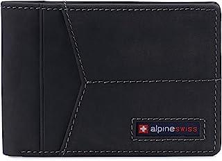 Alpine Swiss Men's Delaney Slimfold Wallet RFID Safe York Collection