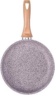 Sartén de aluminio con apariencia de piedra, mango de efecto madera, antiadherente y apta para inducción, aluminio, Durchmesser 28 cm