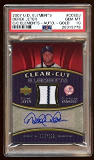 Pop 1 10 Derek Jeter 2007 Ud Auto Jersey /199 Pinstripes Autograph Hof ? - PSA/DNA Certified - Baseball Autographed Game Used Cards