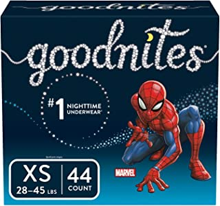 Goodnites Bedwetting Underwear for Boys, XS (28-45 lb.), 44 Ct (Packaging May Vary)