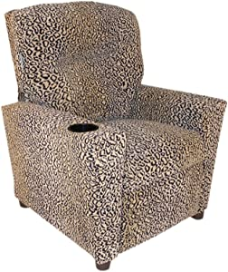 Dozydotes Child Theater Recliner Chair with Cup Holder - All Cheetah