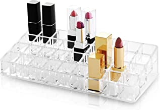 BINO 'Lips Galore' 36 Compartment Acrylic Lipstick Organizer, Clear and Transparent Cosmetic Beauty Vanity Holder Storage