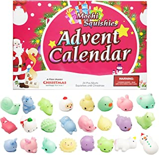 Amzmalt Advent Calendar 24PCS Christmas Countdown Calendar 2019 for Kids Non-Toxic Cute and Adorable Party Favor Different Surprise for Every Day
