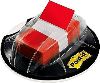 Post-it Bandeiras, dispensador de aderência de mesa de 200/alto volume, 2,54 cm de largura, vermelho (680-HVRD)