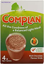 Complan Nutritious Vitamin Rich Drink Chocolate Flavour 4 x 55g Sachets