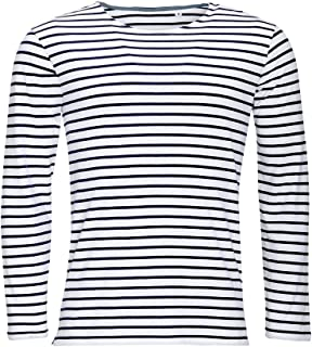 SOLS Mens Marine Long Sleeve Stripe T-Shirt