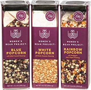 Women's Bean Project Gift Bundle with Three Popcorn Specialty Seasoning, 3 Items