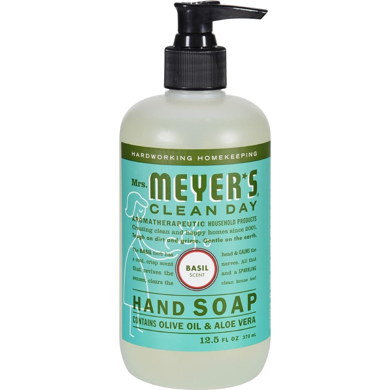 世論調査スノーケル第三MRS. MEYER'S HAND SOAP,LIQ,BASIL, 12.5 FZ by Mrs. Meyer's Clean Day