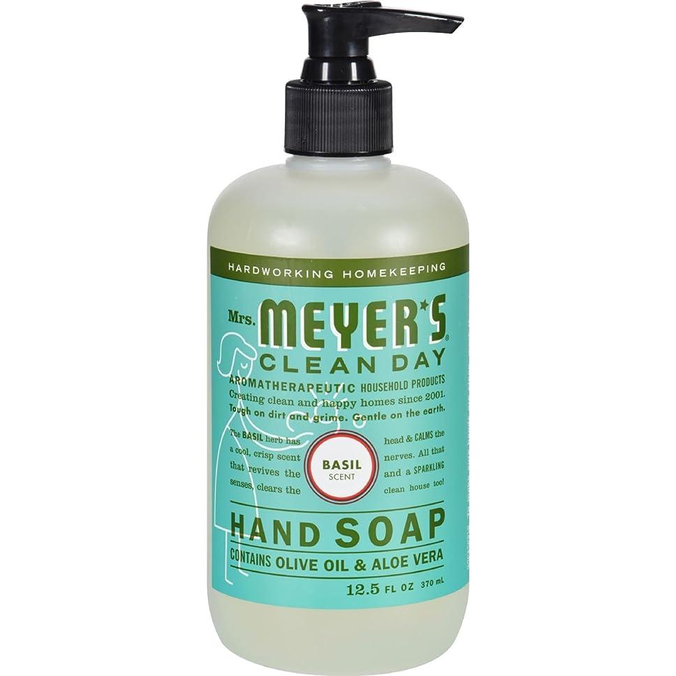 モザイク必需品ラリーMRS. MEYER'S HAND SOAP,LIQ,BASIL, 12.5 FZ by Mrs. Meyer's Clean Day