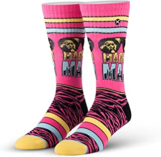 80's and 90's WWE Wrestling Superstars Unisex Novelty Crew Socks