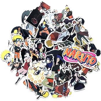 Gep/äck Gitarre KOWASO 50 St/ück Naruto Laptop Aufkleber Anime wasserdichte Aufkleber f/ür Skateboard Helm