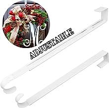 Wreath Hanger,Christmas Wreath Hanger for Front Door Adjustable from 14.9-25 Inches, Larger Door Wreath Hanger Festival Wr...