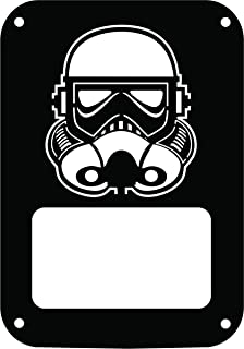 JeepTails Star Wars Stormtrooper - Jeep JK Wrangler Tail Lamp Covers - Black - Set of 2