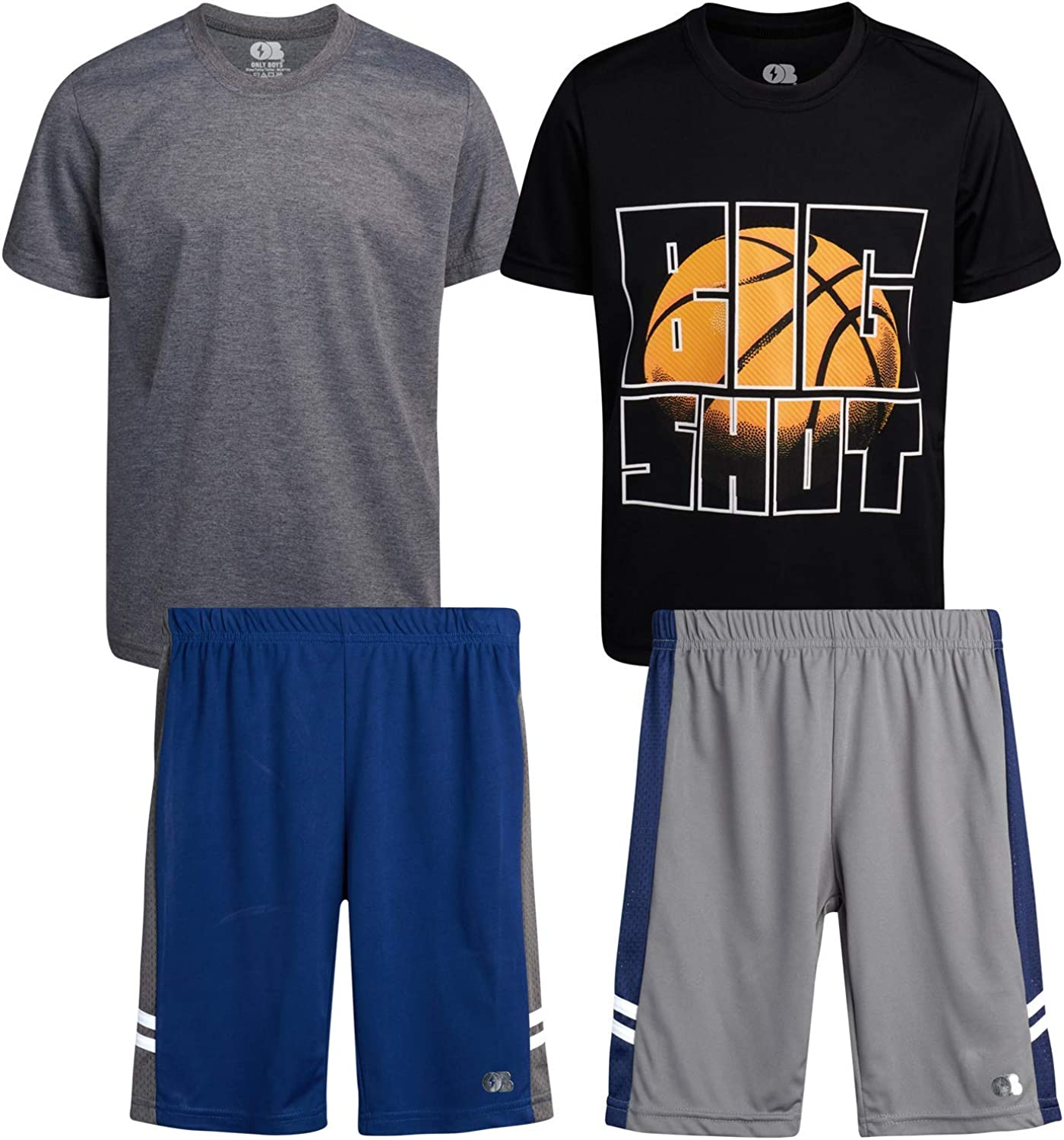 ONLY BOYS 4-Piece Performance Sports Chicago Mall and Set NEW before selling Short T-Shirt