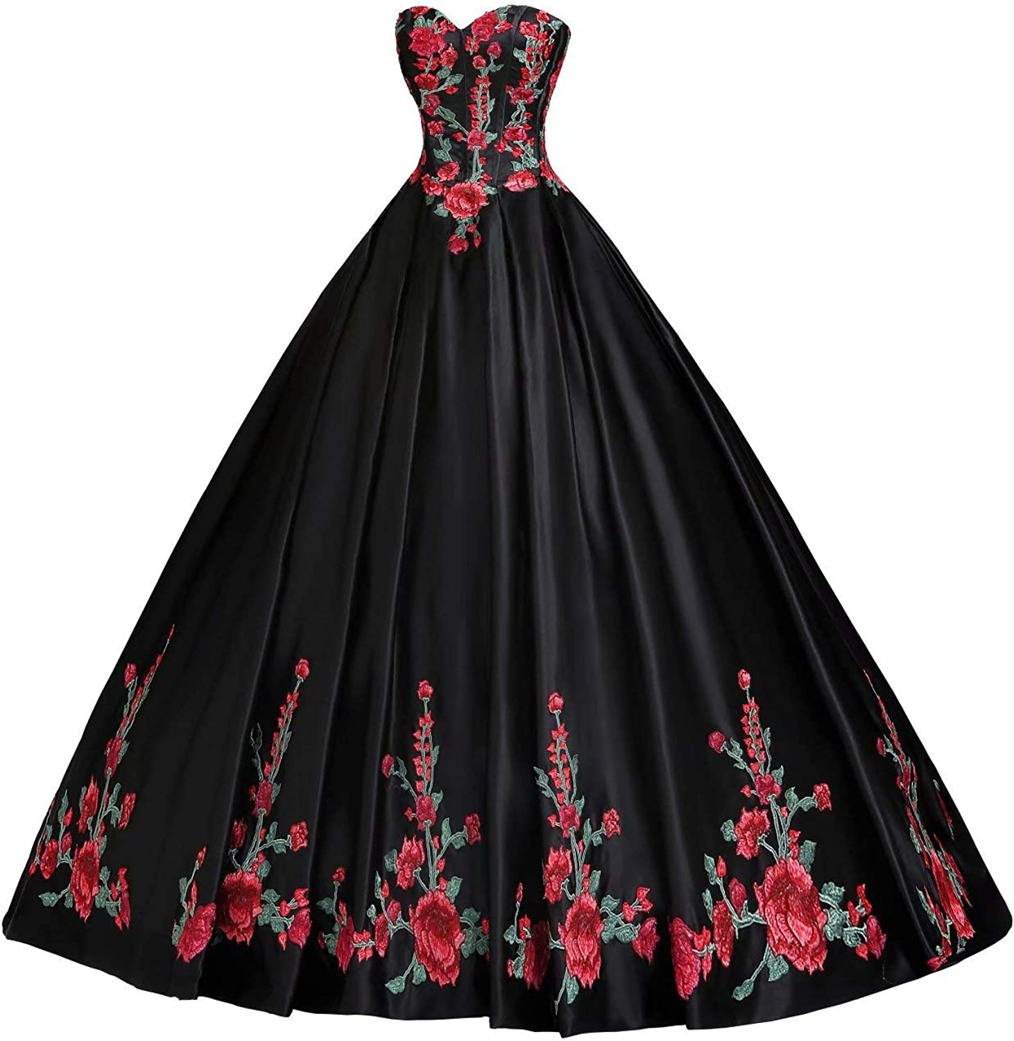 Luxurious Red and Green Embroidery Beaded Quinceanera Dresses Modern Prom Graduation Dress 2021