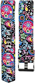 Ninasill Colorful Printing Sports Silicone Bracelet Strap Band Exclusive 2 Watch Strap (U)