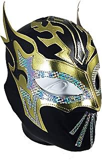 SIN CARA Lycra PRO Adult Lucha Libre Wrestling Mask (pro-LYCRA) Black/Gold