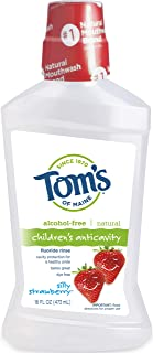 Tom's Natural Children's Anticavity Fluoride Rinse, Silly Strawberry, 16 fl oz (Pack of 2)