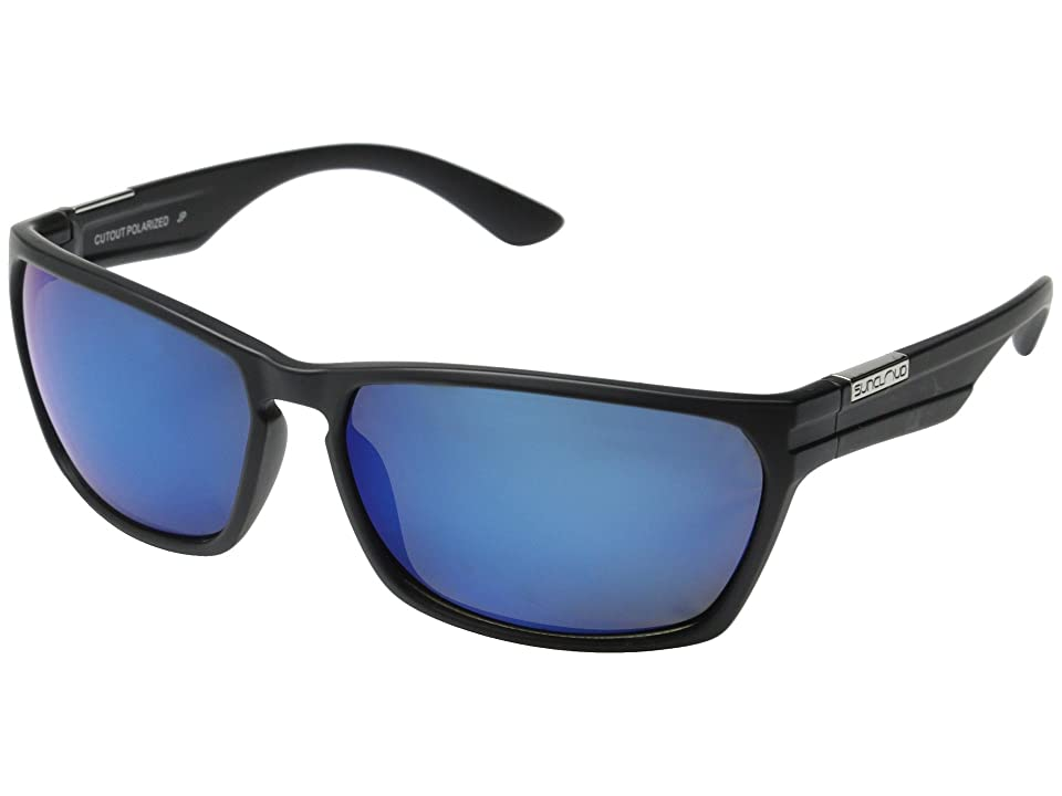 5200fe15e63fe SunCloud Polarized Optics Cutout Polarized (Matte Black Frame Blue Mirror Polarized  Polycarbonate Lenses)